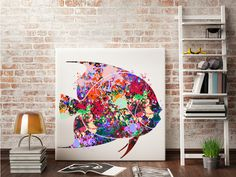 Fish Watercolor Painting Print Art Print by Antsartworkoffice