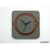 Amazon.com: wood concrete clock: Handmade Products