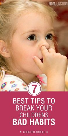 How to Handle Bad Habits of Children? The good news is that where there is a will there is a way. Bad habits may be difficult but not impossible to break. With a bit of patience, care, observation and conscious efforts we can relieve our kids of bad manners. Certain important pointers that help in breaking bad habits in children are