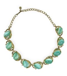 Sea Green Moonstone Necklace from Candy Shop Vintage