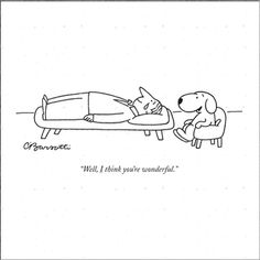 """Well, I think you're wonderful."" - New Yorker Cartoon Poster Print by Charles Barsotti at the Condé Nast Collection New Yorker Cartoons, Cartoon Posters, Cartoon Dog, Cute Captions, You Are Wonderful, Best Friends Funny, Dog Quotes, Funny Quotes, Dog Art"