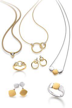 Golden Romance, warmes Gelbgold in Kombination mit hochwertigem Sterling Silber.