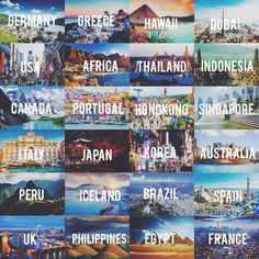 Before i die, i want to travel the world🌍💕 on we heart it I Want To Travel, Beautiful Places To Travel, Cool Places To Visit, Places To Go, Travel List, Travel Goals, Travel Packing, Dc Travel, Travel Tourism