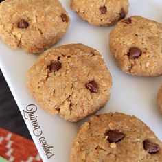 Ripped Recipes - No Bake Quinoa Cookies - Super easy and different way to enjoy a peanut butter chocolate chip cookies.