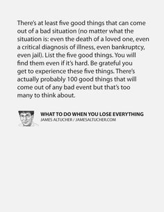 What to do when you lose everything