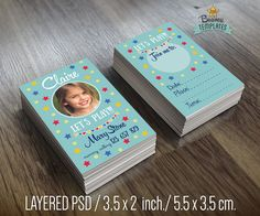 Mommy Calling Business Cards For Kids Children Business Card Template Business Card Design Photoshop Kids Cards Photography Business Cards Business For Kids