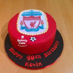 Liverpool Football Club Birthday Cake by Bakedy Cake Sport Cakes, Liverpool Football Club, Birthday Cake, Desserts, Sports, Food, Tailgate Desserts, Hs Sports, Birthday Cakes
