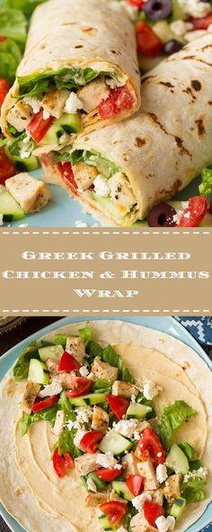 Greek Grilled Chicken & Hummus Wrap | Food Fun Kitchen