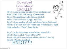 Very detailed instructions on how to download free music legally