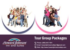 Tour Groups are warmly welcomed! Howard Johnson Inn & Suites Vallejo offers customized packages for local, regional, national, and international tour groups visiting the San Francisco Bay Area. https://goo.gl/EPjprA