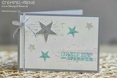 Simply Stars; Alles nur Sprüche; Sternenkarte; Dankeskarte; Swap; Goodie; Bigz Top Note; Stampin' Up Hochzeitsgeschenk; Stempel-biene; Scrap...