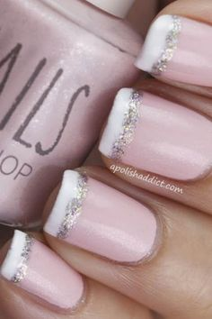 bridal nails french manicure - Google Search