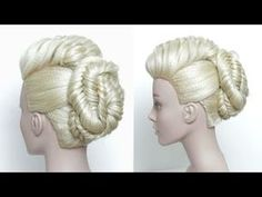 Wedding Updo With Braids. Prom Hair Tutorial - YouTube
