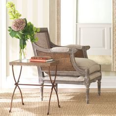 inspiration for refinishing cane back dining chairs.