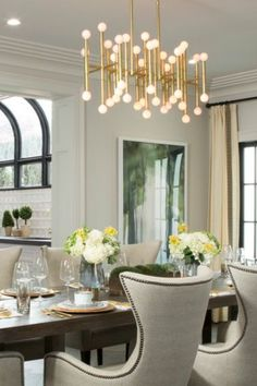 Jonathan Adler Chandelier In Modern Eclectic Dining Room By PropertyBrothers Shop Drews Honeymoon House