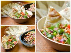 Black-eyed Pea Salad with Toasted Pita Wedges - this looks really yummy!