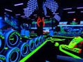 I love go carting! This track looks incredible. It seems similar to glow in the dark golfing. I hope my city gets one of these so I can do this.