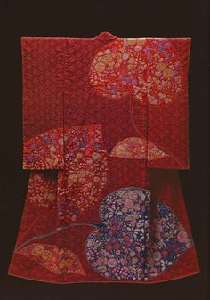 Hollyhock (1983) by the Late Japanese textile artist Itchiku Kubota(1917-2003) form the exhibition,Kimono as Art: The Landscapes of Itchiku Kubota, Canton Museum of Art in Canton, Ohio (February 8-April 26, 2009).