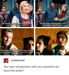 "11x03 ""Rosa"" // 11x09 ""It Takes You Away"" Doctor Who Funny, Doctor Who Tumblr, Favorite Questions, Captain Jack Harkness, 13th Doctor, Rory Williams, Amy Pond, People In Need, Torchwood"
