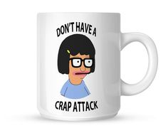 Tina Blecher Dont Have a Crap Attack Mug Mug White Mug Kitchen Dining, Entertaining, Mugs, Amazon, Tableware, Decoration, Random, Decor, Kitchen Dining Living