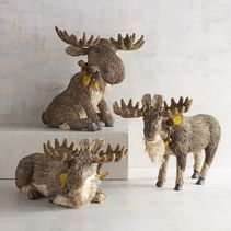Calling all moose lovers! The moose is the largest member of the deer family and the largest mammal in North America. What better way to celebrate such amazing animals than by capturing their greatness in our wonderful natural decor adorned with festive, autumn accents.