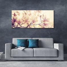 Beige Art, Pink Beige, Wall Decor, Wall Art, Blooming Flowers, Cherry Blossom, Flower Art, Living Room Decor, Love Seat