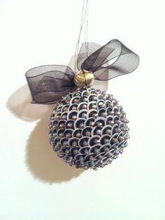 Beaded Sequin Ornament Small13/4 diameter by IdAndEgoCreations, $18.00