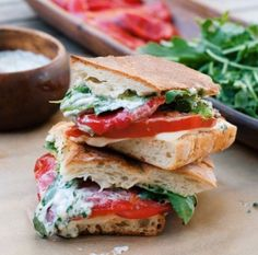 roasted red pepper panini with cilantro-lime mayo (make with homemade vegan Mayo)