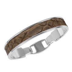 Union Bracelet - Camel Snake - Classic Leather Inlay