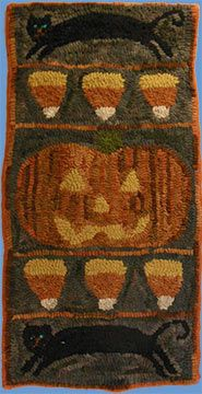 Rustic Rugs - Vertical Halloween Runner                                                                                                                                                                                 More