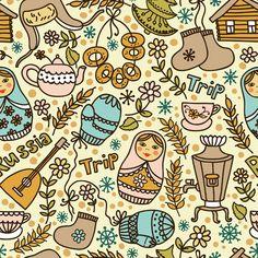 Russian style by Maria Galybina, via Behance