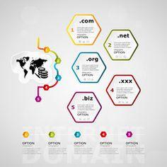 Internet domain timeline infographics design with five steps or options Infographics Design, Timeline, Royalty Free Images, Maps, Clip Art, Internet, Stock Photos, Creative, Travel