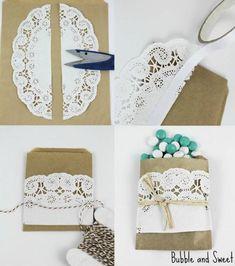DIY paper doily wedding favour bags #weddbook #wedding #diy #craft #tutorial