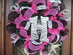 zebra diva wreath - Google Search