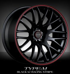 Black & Red rims