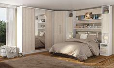 Quarto Casal Modulado 8 Módulos Branco/Mezzo Bianco - Casamia | Lojas KD