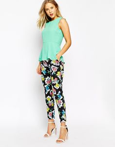 Oasis Art Rose Trousers