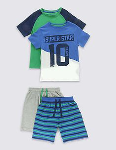 2 Pack Cotton Rich Assorted Pyjamas (1-8 Years)