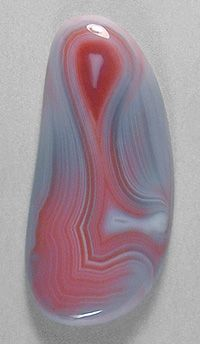 #gemstone cabochon of Queensland agate, from Australia's famous Agate Creek agate beds cut by lapidary artist Sam Silverhawk . © Silverhawk