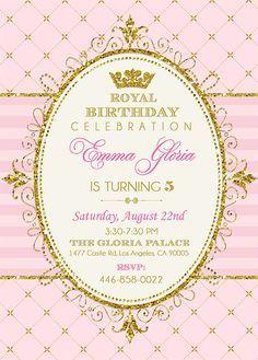 Royal Princess Invitation Princess Party by EniPixels on Etsy