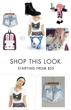 """ldshadowlady"" by annaaubyeastwood on Polyvore featuring Cartoon Network, Timberland and Youtuber"