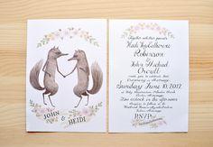 (So hey, one of my favorite artists rocked a wedding invitation, no big deal. !!!) John & Heidi's Wedding Invite (designed by Julianna Swaney)
