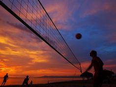 Sunset Volleyball on Playa De Los Muertos (Beach of the Dead), Puerto Vallarta, Mexico
