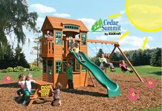 Introducing Cedar Summit by KidKraft! Get ready for spring with this super fun Cedarview Resort Playset! $1,499 + Includes Delivery!