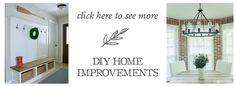 DIY Home Improvements | LittleRedBrickHouse.com