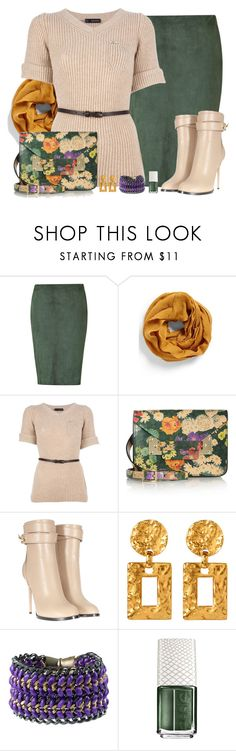 """""""Untitled #480"""" by polly302 ❤ liked on Polyvore featuring Ralph Lauren Black Label, Echo, Dsquared2, Sophie Hulme, Givenchy, Ben-Amun, Bex Rox and Essie"""