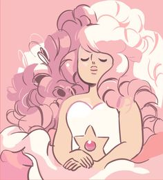 Steven Universe Rose Quartz - I love her sooo much, she is like the most perfect person ever!