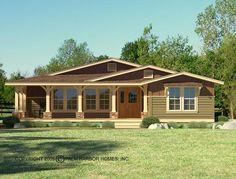 The Rancho La Linda II Exterior (Opt.) With Opt. Woodgrain Front Door & Sidelight
