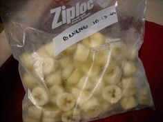 How to freeze bananas. Great for smoothies or banana bread.