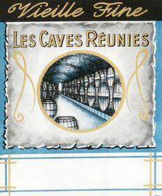Vieille Fine - Les Caves Reunies (Beverage Label) by Artist Unknown | Shop original vintage #posters online: www.internationalposter.com.